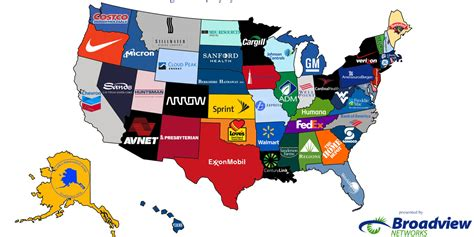Here Are The Biggest Companies By Revenue In Each State ...