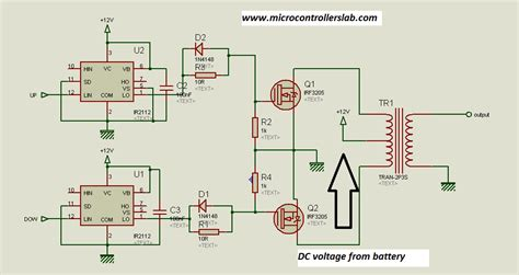 modified sine wave inverter  pic microcontroller