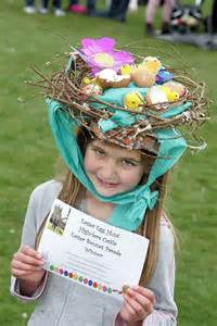 easter bonnets with easter bonnets the lone girl in a crowd