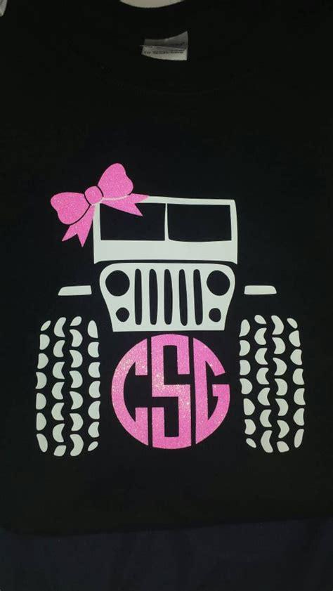 cute monogrammed jeep  shirt monogram vinyl monogram monogram shirts