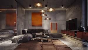 concrete-room Interior Design Ideas