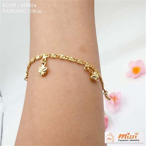 jual missi aksesoris gelang tangan rantai s 415024 emas imitasi di lapak missi fashion