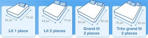 dimension lit 2 places choisir la taille de matelas quel matelas fr
