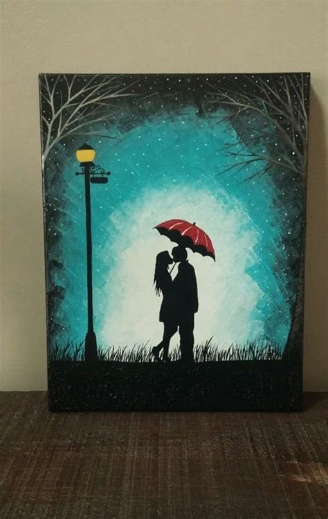 easy canvas painting ideas  art lovers lovers art
