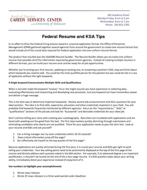 Federal Resume Exle by Usajobs Resume Template Shatterlion Info
