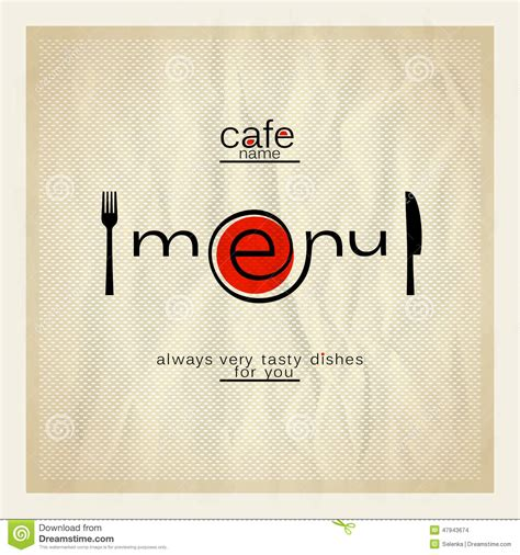 You can also email the file to your local print shop right from the tool. Cafe menu design. stock vector. Illustration of illustration - 47943674