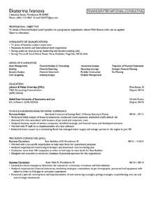 finance resume objective berathen