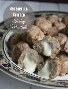 Healthy Mozzarella Stuffed Turkey Meatballs