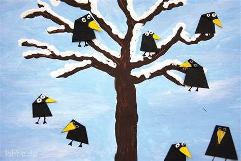 rabe basteln google suche basteln mit kleinkindern winter kunstprojekte und winter zeichnungen