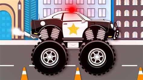 monster truck videos monster truck stunt chase monster truck videos for kids
