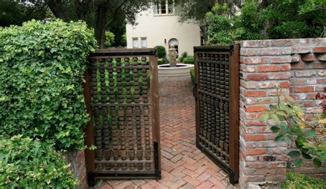 decorative wooden japanese gate gates and fences