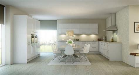 white kitchen laminate flooring cucine nordiche ideare casa 1389