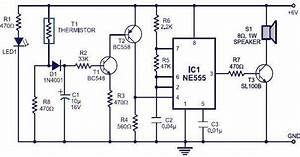 Simple Circuit Alarme Incendie  U00e0 L U0026 39 Aide D U0026 39 Un Minuterie Ic Ne555