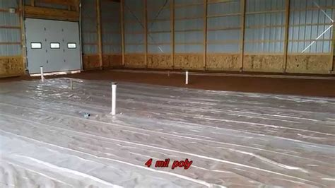 Installing a Heated Concrete Floor in Morton Barn   YouTube