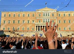 Athens, Greece -June 01: Protesters Against The Government ...