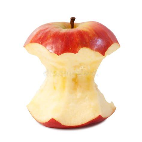 Red apple core stock image. Image of studio, fresh ...