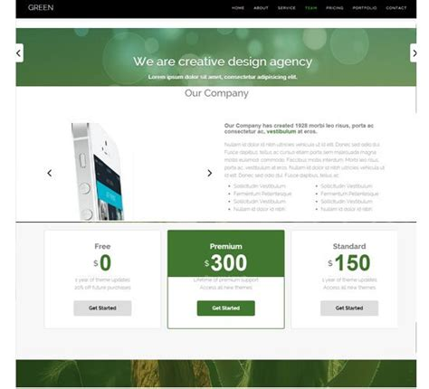Free Responsive Website Templates One Page Responsive Free Templates All Is One