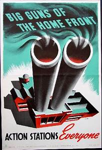 Big Guns Of The Home Front--WW2 Canadian Poster