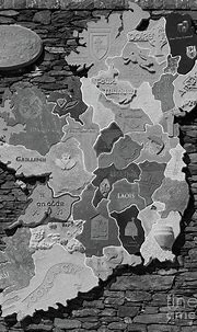 Stone Map of Ireland bw Photograph by Eddie Barron