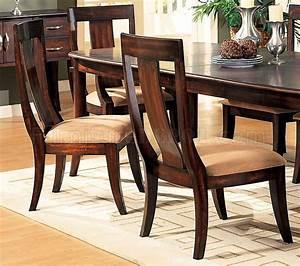 Distressed Cherry Formal Dining Room Set WMicrofiber Seats
