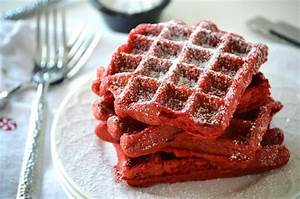 Red Velvet Waffles - What the Fork