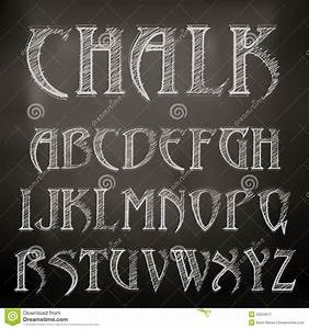 chalk alphabet royalty free stock photography image With chalk art lettering