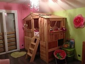 Cabane Chambre Fille : top lit cabane avec les commodes with chambre cabane fille ~ Teatrodelosmanantiales.com Idées de Décoration