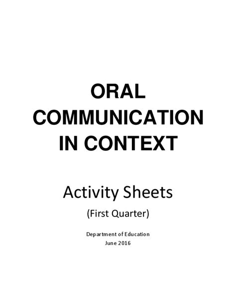 (PDF) ORAL COMMUNICATION IN CONTEXT | Gemmalyn Conde