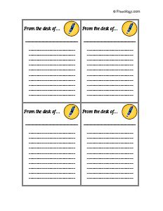 Find great designs for from the desk of letterhead on zazzle. From the Desk of Stationery #1 - Freeology