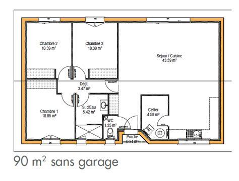 plan de maison gratuit 3 chambres cuisine plan maison moderne simple plan maison simple 2