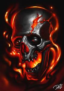 Flaming Skull by Disse86 on DeviantArt