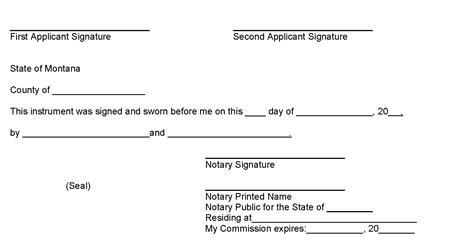 notary signature block template notary signature