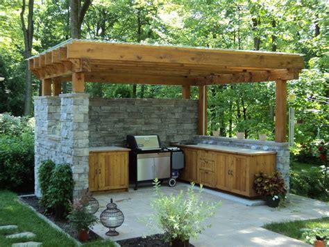 comment construire une cuisine exterieure revger construire une cuisine d 201 t 233 en bois id 233 e inspirante pour la conception de la maison