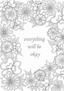 Get The Coloring Page  Everything Will Be Okay