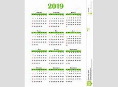 Kalender 2019 stock illustrationer Illustration av juli