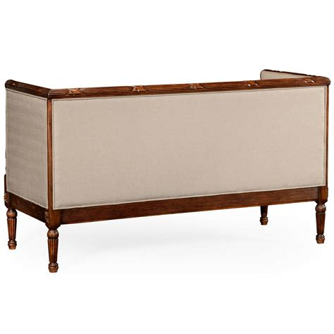 Sofa Settee by Upholstered Settee Sofa Swanky Interiors