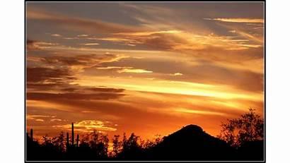 Sunset Desert Tucson Wallpapers 4k Desktop Backgrounds