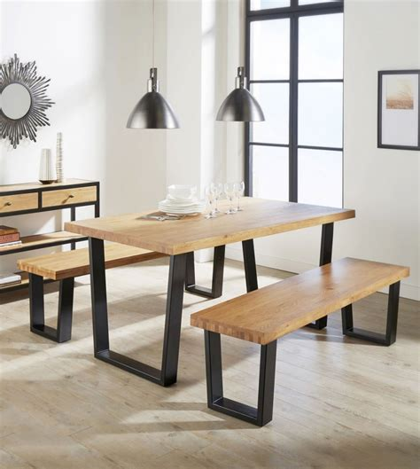 industrial looking dining room tables aloha dining table made of solid oak industrial design