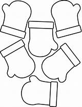 Mitten Mittens Coloring Pattern Clipart Clip Template Winter Patterns Cliparts Printable Outline Snowman Gloves Preschool Library Craft Evens Odds Cards sketch template
