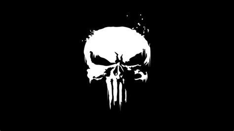 wallpaper punisher black  white logo skull