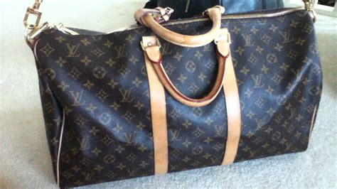 ultimate louis vuitton keepall collection monogram damier taiga leather size comparison youtube