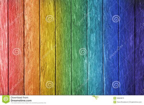 rainbow wood background stock image image  blue fence