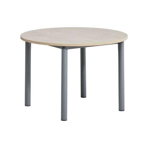 tables rondes de cuisine table de cuisine ronde en stratifié lustra 4 pieds