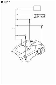 Husqvarna 236  967326403  Chainsaw Cover Spare Parts Diagram