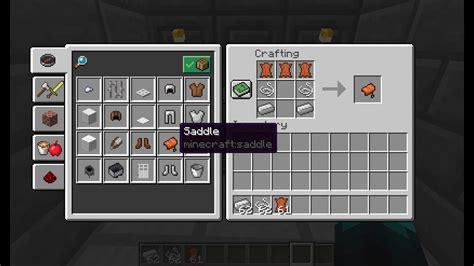 saddle minecraft craft
