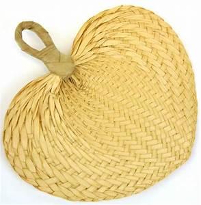 Buri Palm Hand Fan