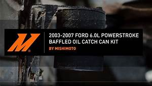 2003 U20132007 Ford 6 0l Powerstroke Baffled Oil Catch Can Kit