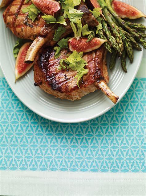 ricardo cuisine com côtelettes de porc grillées aux figues ricardo
