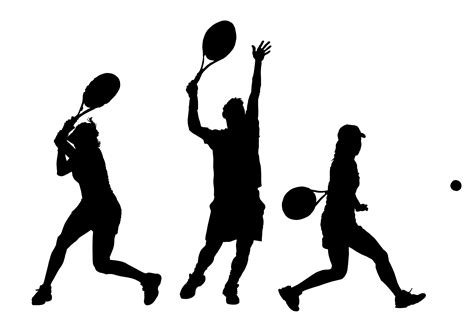 tennis player clipart black and white tennis player silhouette png www pixshark images