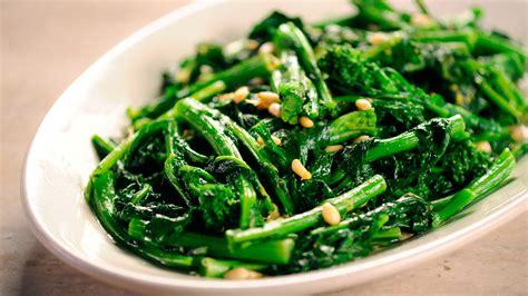 video sauteed broccoli rabe martha stewart
